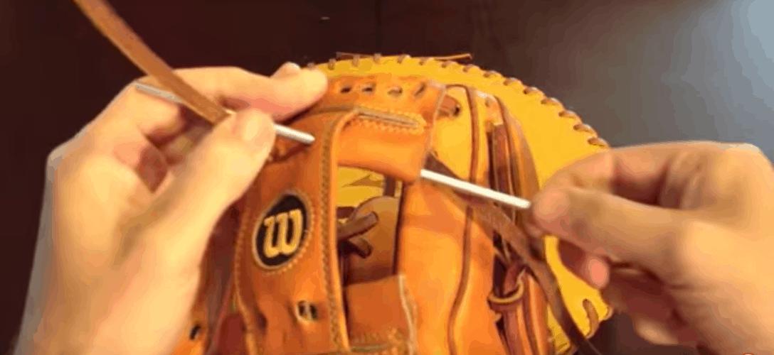 Lacing baseball gloves